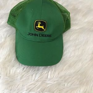John Deere trucker style snap back hat